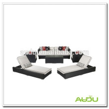 Audu Alumínio Outdoor Rattan Cadeiras de praia personalizadas