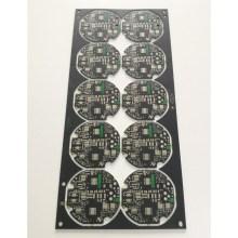 Black matt over green soldermask circuit board