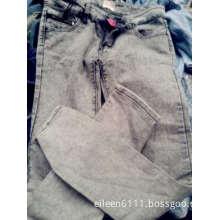 Lady used long jean pants