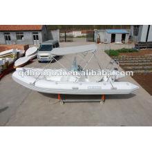 Barco de fibra de vidrio barco inflable del PVC