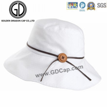 New Style Ladies Gals Custom Sun Bucket Hat with Button