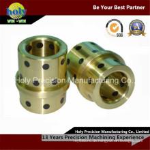 Kundenspezifische gemachte Messing-Bearbeitungs-Präzisions-Drehteile CNC mit überzogen