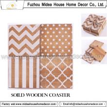 China Fábrica de madera personalizada baratos Coasters