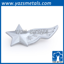 Customized star sharp silver lapel pins