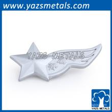 Customized star sharp silver lapel pins