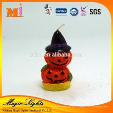 Vela de Halloween em forma de abóbora de decoração