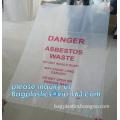 Asbestos waste bag, ldpe asbestos bag, hazardous waste yellow plastic bag asbestos garbage bag