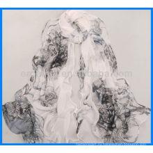 Изящный принт женщин небольшой шейный шарф