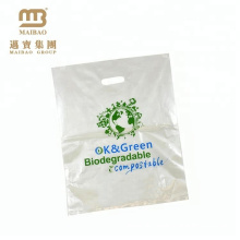 Die Cut Handle Cornstarch 100% Biodegradable Custom Printed Shopping Plastic Carrier Bags