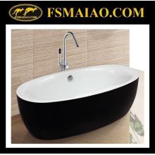 Articles sanitaires classiques de salle de bains de baignoire acrylique noire et blanche (9003)