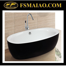 Classical Black & White Acrylic Bathtub Bathroom Sanitary Ware (9003)