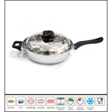 Stainless Steel Roll Edge Gourmet Skillet