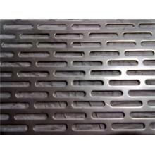Malla metálica perforada con orificio decorativo