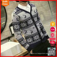 Suéter feo vendedor caliente de la Navidad del hombre del copo de nieve de la manera