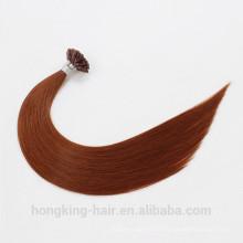 Type pré-collé d'ongle et extension de cheveux d'U de pointe de cheveux de Remy