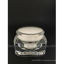 Runde quadratische Creme Gläser für kosmetische Verpackung