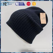 Factory Chapeaux en tricot pour dames simples de conception simple Livraison la plus rapide