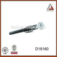 curtain rod finials rose/glass curtain rod finials/triple curtain rod bracket 16/19mm iron pole