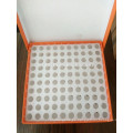Caja de tubos crioviales de 100 pocillos para tubos de centrífuga de 0,5 ml