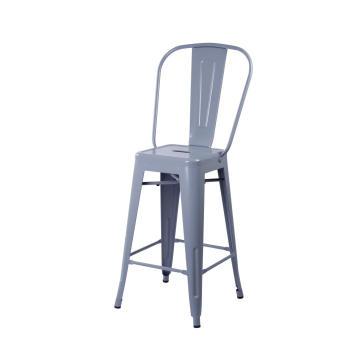 bistro Bar stool tolix chair high backrest replica