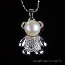 Lovely Teddy Bear Shape Fashion Pendant Jewellry Necklace