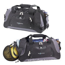 Athletic bags with basketball pocket