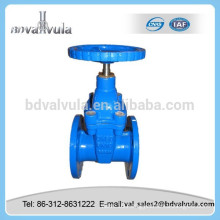 DIN non-rising stem soft seal gate valve pn16 dn100