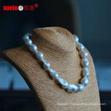 15-17mm Collier à perles d'eau douce à grande coquille baroque baroque bordé (E130085)