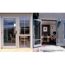 Insulated Blue Tinted Double Glass Smooth Sliding Aluminium Doors