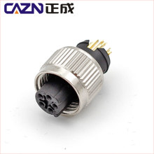 IP67 3 4 5 6 pin M12 C Code Male Female Injection-molded Connector for PVC PUR Cable
