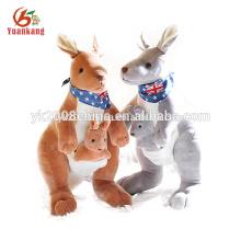 Juguete de peluche de canguro rellenado tamaño grande de la fábrica del OEM para el bebé