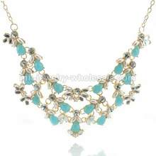 Little Zinc Alloy Piece Gold Plated Elegant Beauty Necklace