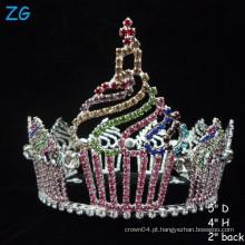 Coroa linda cor-de-rosa do queque, Tiara feita sob encomenda para meninas