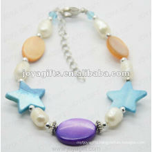 Fashion 2012 Joya Mother Of Pearl Beaded Anklet