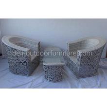 Ensemble de meubles de rotin extérieur avec trou