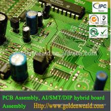 сборка агрегата PCB печатной платы SMT и DIP светодиодный свет контроллер с menmber переключатель и изготовление печатных плат