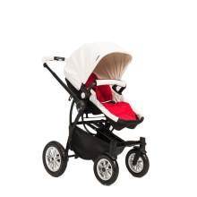 Роскошная воздушная шина Современная многофункциональная детская коляска Белая и черная