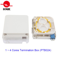 1 Ports Fiber Optic Cable Termination Box with Transparent Cover