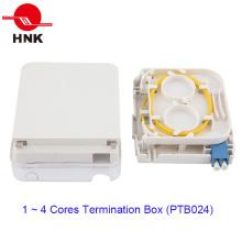 1 portas caixa de terminação de cabo de fibra óptica com tampa transparente