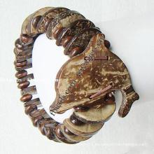 Gets.com pulsera de cuero con cierre de oro