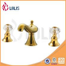 Misturador de torneira de latão decorativo real de cristal de jóias e jóias (LLS09153)