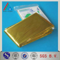 Embalaje flexible PET autoadhesivo oro brillante plata metalizada película para poliéster