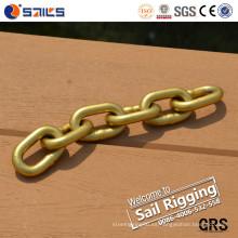 Cadena de acero al carbono con revestimiento de cinc amarillo