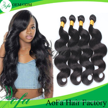 2016 Гуанчжоу Новый Необработанные Девственница Волос Свободная Волна Расширения Человеческих Волос