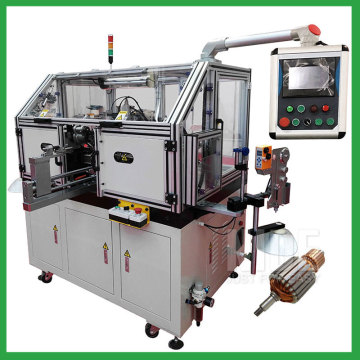 Mixer motor armature inslot coil winding machine