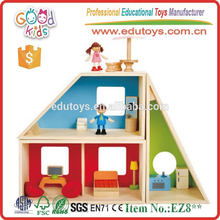 Лучший продавать современный домик для дамской деревянной детской куклы с набором мебели