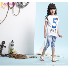 Heißer Verkaufs-Sommer-Art-Mädchen-gestreifte Hosen-dünne Strand-Hose