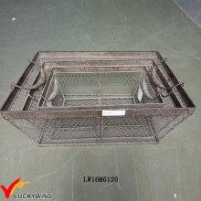 Vintage Storage Handmade Industrial Metal Baskets
