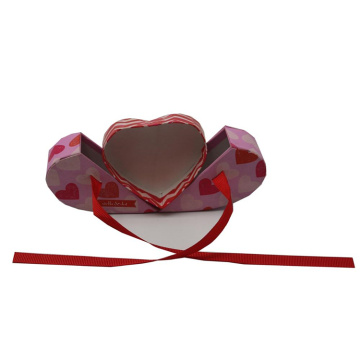 Kundenspezifischer Luxus Valentine Necklace Heart Shape Box