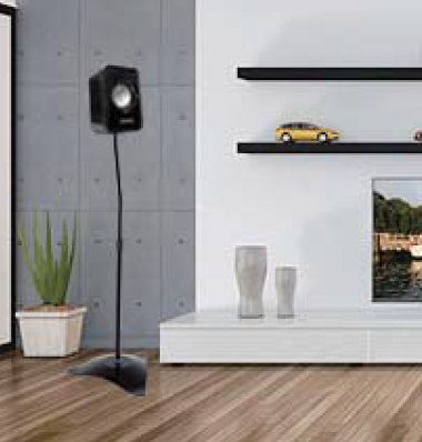 AVRS10 speaker stand in use